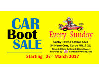 CAR BOOT SALE - CORBY