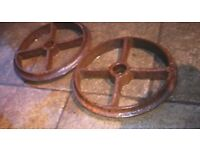 cast iron decorative wheels for your spring garden display