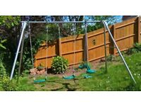 Garden swing set by TP - includes 2 x swing seats and a push me / pull you.