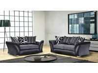 SPECIAL OFFER ITALIAN CORNER SOFA 3 AND 2 SEATER IN BLACK & GREY AND BROWN COLOUR
