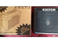 KUSTOM KGA 10 LEAD GUITAR AMPLIFIER COMPLETE WITH ALL LEADS & MICROPHONE SO CAN BE USED FOR KARAOKE