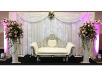 Wedding Mendhi Flower Wall Hire Stage Chair Backdrop Engagement Baby Shower Birthday Party Flowers