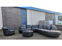 DFS 7-8 seater large back full leather corner sofa set VGC DELIVERY AVAILABLE