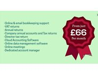 Company Accounts & Tax returns from 499, Personal Tax Return from 99, Payroll from 1.50/payslip