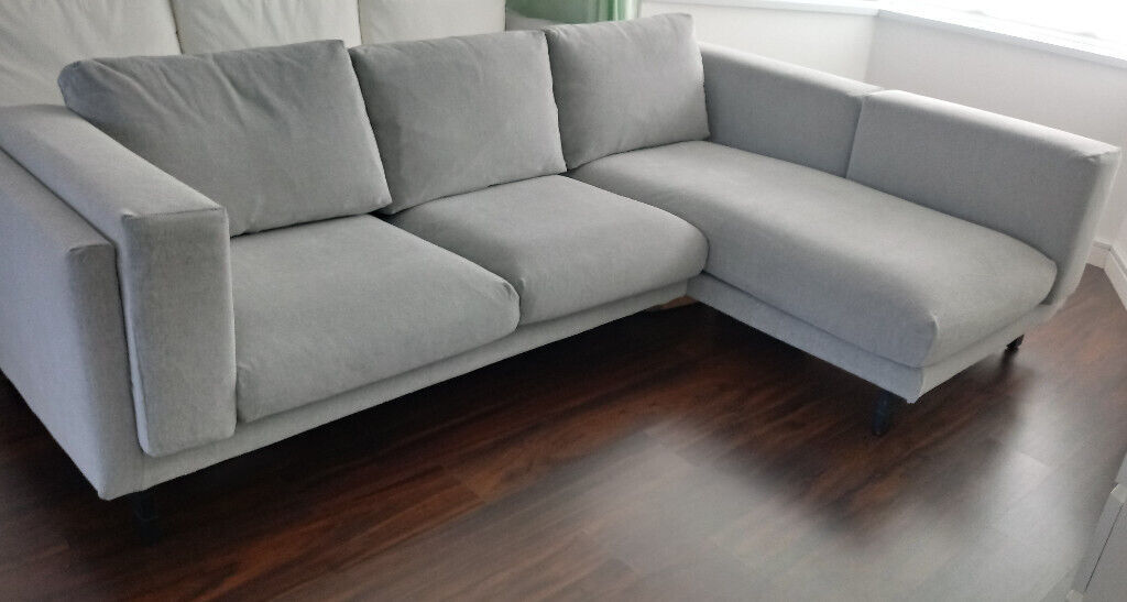 Surprising Free Delivery New Condition Grey Ikea Nockeby 3 Seat Corner Sofa Chaise Longue Tallmyra White Black In Tilehurst Berkshire Gumtree Inzonedesignstudio Interior Chair Design Inzonedesignstudiocom