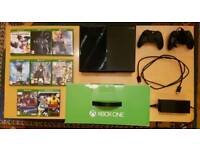 Xbox One 500gb, 2 controllers and 8 games for sale