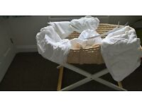 mothercare moses basket with stand and hood
