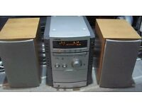 Sony CMT-CP555 2 x 75W mini hifi with 5x CD, MP3 play, speakers & remote