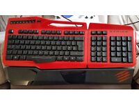Madcatz strike 3 and r.a.t 5 gaming keyboard and mouse in red