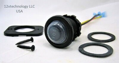 Double Momentary Spdt Waterproof Rocker Toggle Switch 12v Round On-off-on