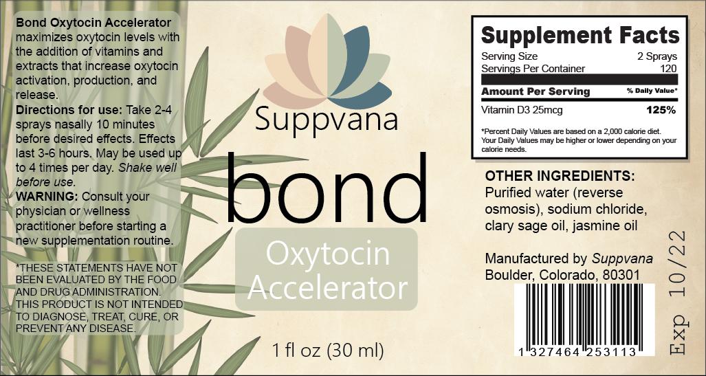 Bond Oxytocin Support - ALL NATURAL - by Suppvana 1
