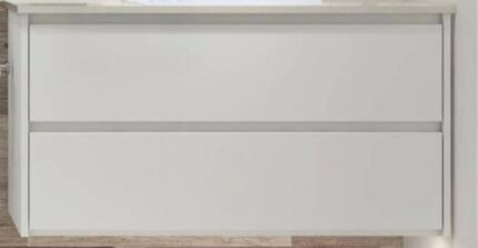 Vanity wall hung 900w x 600h lacquered high gloss white NEW boxed