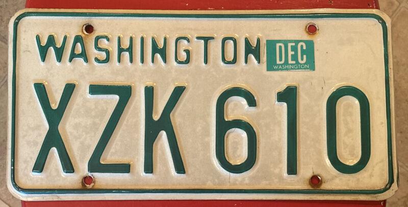 Original 1968-1982 Washington Passenger Vehicle License Plate Single YOM Legal