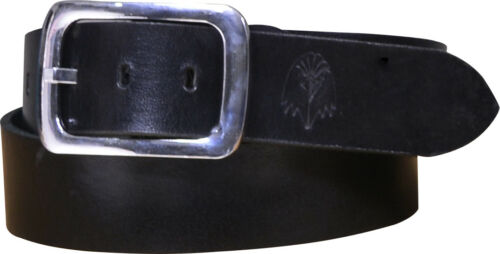 Men's Leather Jeans Belt, 2 inch wide buffalo leather Nappa Leather