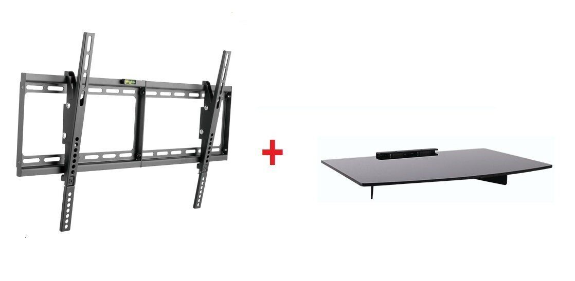 Low Profile LCD LED TV Tilt Wall Mount 37-70 with Single Gla