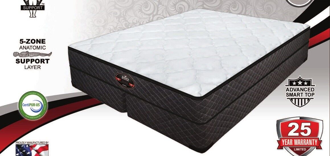 """10"""" AIR PILLOW TOP MATTRESS SET, COMPATIBLE WITH SLEEP NUMBE"""