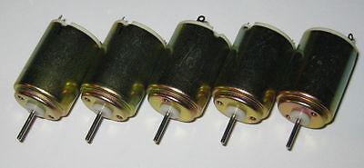 5 X Nissei Denki Mini Motors - 1 To 6 Vdc - 12000 Rpm High Speed Solar Motors