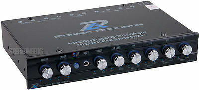 Power Acoustik Pwm-16 Car Audio 4-band Graphic Equalizer ...
