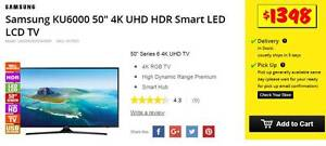 """Samsung KU6000 50"""" 4K UHD HDR Smart LED LCD TV WKS OLD *$400 OFF Camberwell Boroondara Area Preview"""