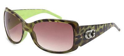 Sexy Leopardenmuster Damen CG Sonnenbrillen UV Schutz W / Gratis Etui - Grün