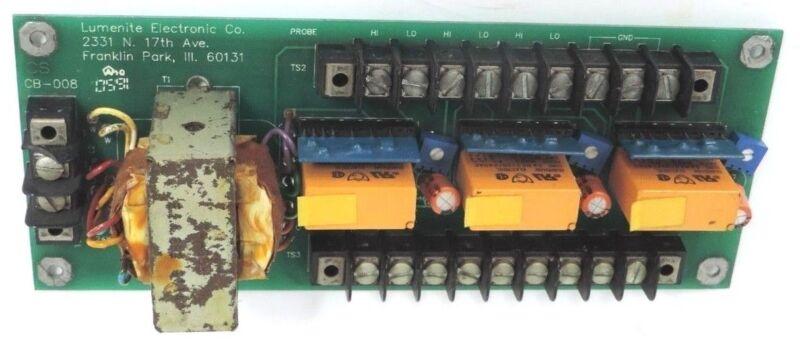 LUMENITE ELECTRONIC CO. CB-008 RELAY BOARD CB008
