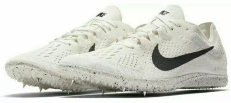 NEW Nike Zoom Matumbo 3 White Black / Oil Track Spikes Shoes Men's size 10