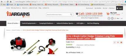 10 In 1 Brush Cutter Hedge Trimmer Long Pole Chainsaw Brush Cutte Dural Hornsby Area Preview