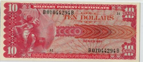 MPC Military Payment Series 661 $10 Dollar Note RARE
