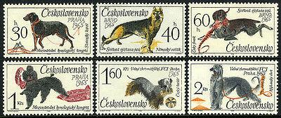 CZECHOSLOVAKIA 1312-17,MNH.DOGS:GERMAN SHEPHERD,HUNTING DOG,POODLE,TERRIER,1965
