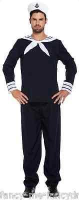Herren Marine Blau Matrose Militär Uniform Junggesellenabschied Party (Militär Party Kostüm)