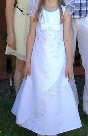 Girl white dress holy communion dress 8y