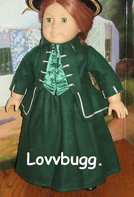 "Lovvbugg Horse Riding Habit for 18"" American Girl Felicity Doll Clothes"