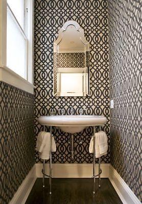Elise Frameless Arch Wall Mirror Venetian Vanity Bath French Farmhouse Horchow