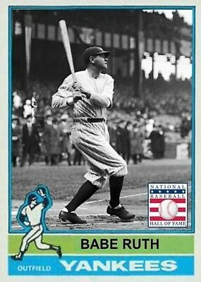 Babe Ruth 76 Yanks Aceo Art Card   Free Combined Shipping