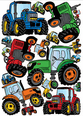 TRACTORS giant wall stickers 17 vinyl decals room decor party decoration (Giant Room Stickers)