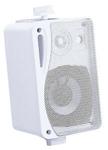 2x-MINI-Cajas-E-Audio-ALTAVOCES-incl-Soporte-de-pared-B416-blanco