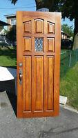 Wood door Porte de bois
