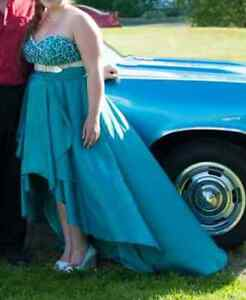 Size 16/18 Blue Open Front Prom Dress