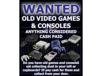 WANTED RETRO GAMES CONSOLES AND GAMES
