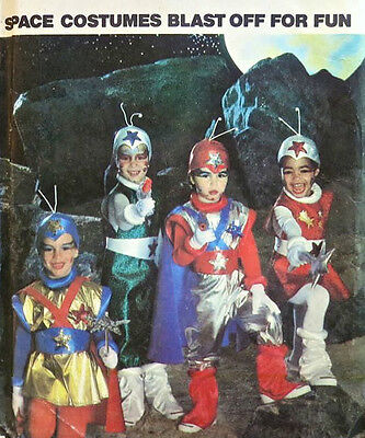 """Butterick 6723 """"Blast off for Fun!"""" Kids' Space Costumes Pattern Sz S-M-L (2-6X)](Space Costumes For Children)"""