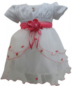 New Baby Toddler Girl Flower Party Wedding Dress Age Size 6 12 18 24 Months