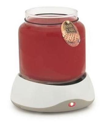 Auto Shut-Off Electric CANDLE WARMER PLATE NEW in Box for 4 - 10 oz. Jars White