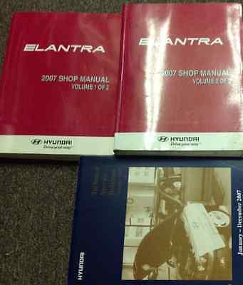 2007 HYUNDAI Elantra Service Repair Shop Workshop Manual Set W Tech Bulletins NE