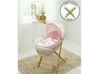 Kinder valley pink Tiny Ted moses basket. With Folding stand. Brand new . 3 left only.