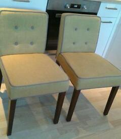 2 dining chairs from made. Cost £60. Will sell for £80.