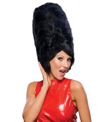 Retro 60's Really Big Hair Beehive Wig Black - Beehive Wig Black