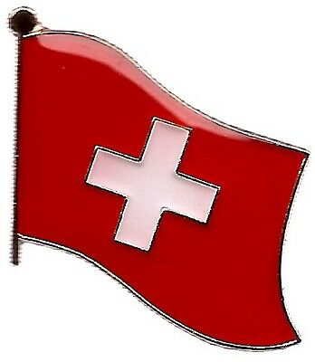 LOT OF 3 Switzerland Flag Lapel Pins - Swiss Flag Pin