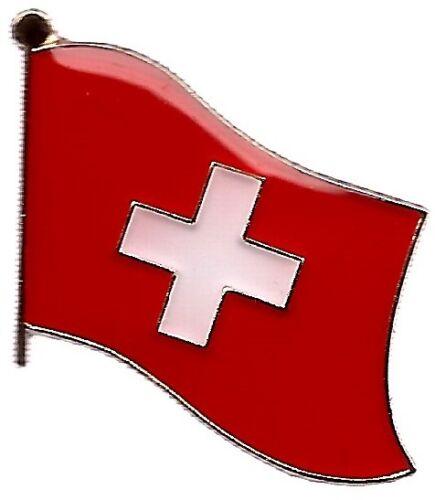 LOT OF 12 Switzerland Flag Lapel Pins - Swiss Flag Pin