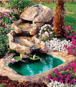 Cascata azzurra bacino laghetto da giardino fontana for Laghetto giardino ebay
