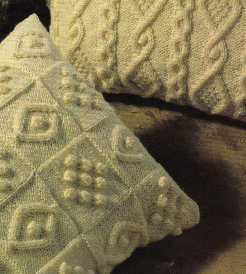 Knitting Pattern For Four Beautiful Aran Cushion Covers 117